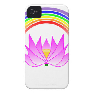 iphone 4 barely there QPC Covers Rainbow & Lotus Case-Mate iPhone 4 Case