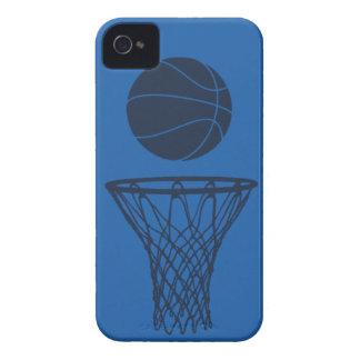 iPhone 4 Basketball Silhouette Maverick Blue Light iPhone 4 Case-Mate Case
