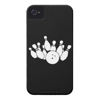 iPhone 4 Bowling Silhouette Black iPhone 4 Case