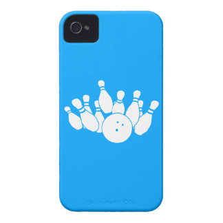 iPhone 4 Bowling Silhouette Blue iPhone 4 Cover