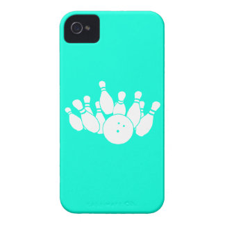 iPhone 4 Bowling Silhouette Turquoise iPhone 4 Case-Mate Case