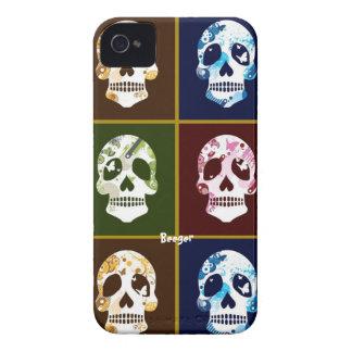 Iphone 4 BT - collage del cráneo iPhone 4 Case-Mate Cobertura