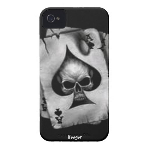 Iphone 4 BT - cráneo de espadas iPhone 4 Case-Mate Protectores
