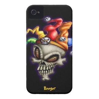 Iphone 4 BT - cráneo del bufón iPhone 4 Carcasas