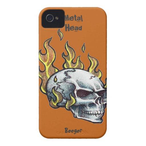 Iphone 4 BT - cráneo principal del metal iPhone 4 Cobertura