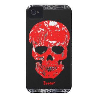 Iphone 4 BT - cráneo sangriento iPhone 4 Case-Mate Carcasas