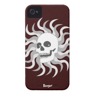 Iphone 4 BT - cráneo y llamas de Sun Case-Mate iPhone 4 Protector