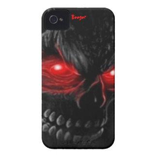 Iphone 4 BT - el cráneo de la carne con brillar Case-Mate iPhone 4 Cárcasas