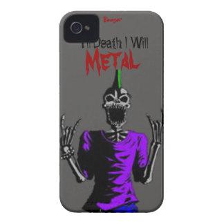 Iphone 4 BT - hasta muerte Metal iPhone 4 Cárcasas