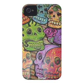 Iphone 4 bt - Mexican Sugar Skulls iPhone 4 Case-Mate Case