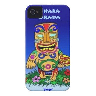 Iphone 4 BT - tipo de Shaka Brada Tiki iPhone 4 Case-Mate Funda