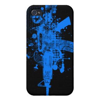 Iphone 4 Case - Abstract Gun 1 ***[Blue]***