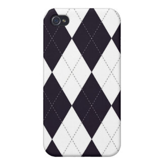 iPhone 4 Case - Argyle D - Vintage