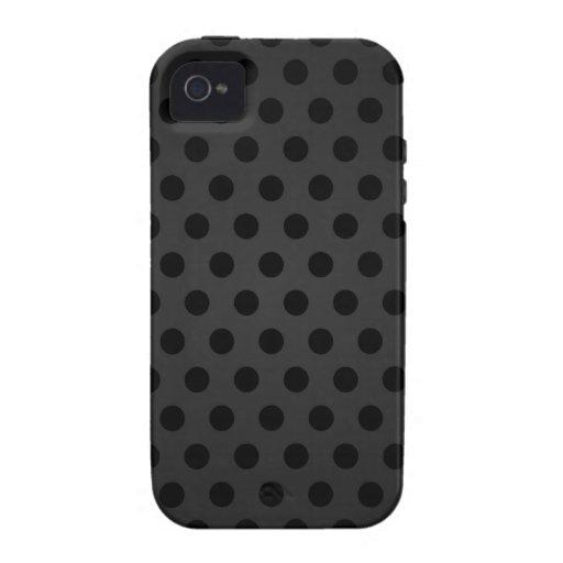 iPhone 4 Case Black Polka Dot
