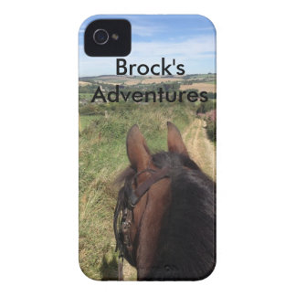 IPhone 4 case - Brock's Adventures with text