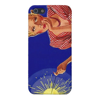 iPhone 4 Case Chic Retro Fashionable Sparkler gal