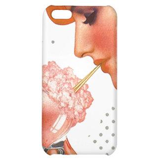iPhone 4 Case Chic Retro Strawberry Soda Fountain