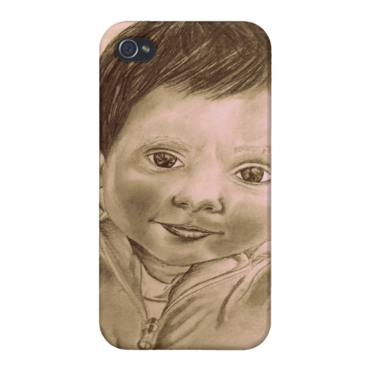 Iphone 4 case (child drawing design)