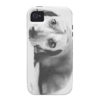 Iphone 4 Case -Dachshund Pencil Drawing