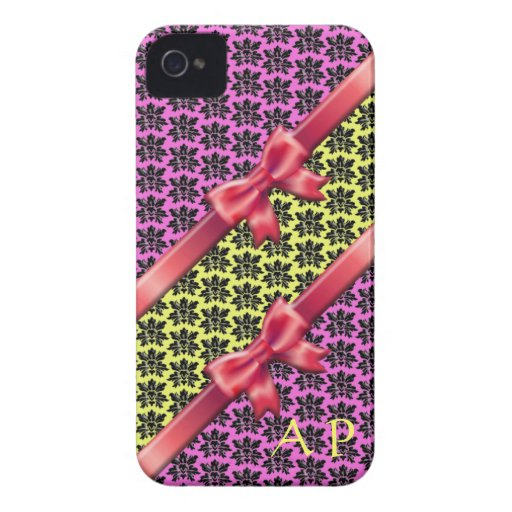iPhone 4 case Damask Girly Gift 3D Initials