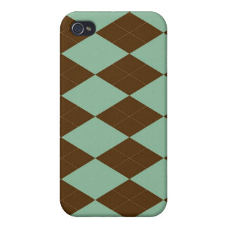 iPhone 4 Case - Diamond Argyle - Mint Coco