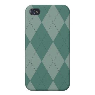 iPhone 4 Case - Diamond Argyle - SeaFoam