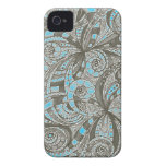 iPhone 4 Case Drawing floral abstract background