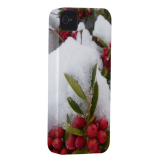 iPhone 4 Case - Holly & Berries in Snow