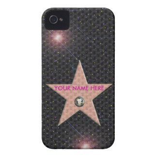 iPhone 4 case Hollywood Star Your Name Carbon 3D