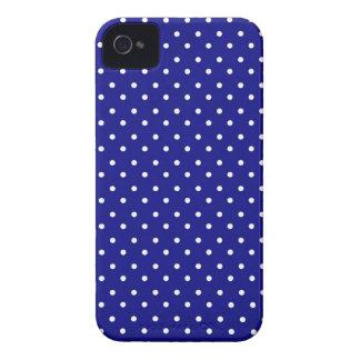 iPhone 4 Case Hot Blue Polka Dot