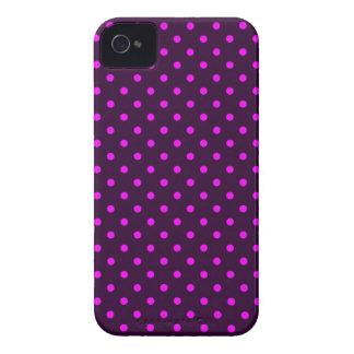 iPhone 4 Case Hot Polka Dot Pink and Violet