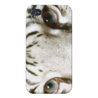 iPhone 4 Case Intense Eyes Intensity Tiger Eye whi