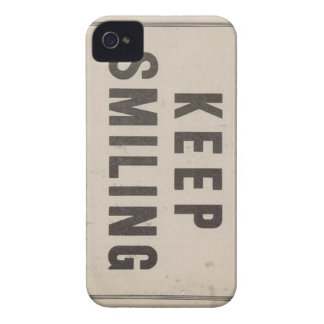 iphone 4 case - keep smiling