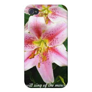 iPhone 4 Case--Lilies--Psalm 89:1