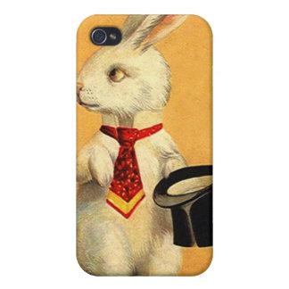 iPhone 4 Case Magic Act Rabbit Holding Hat Trick