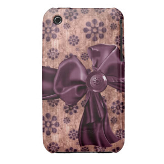 iPhone 4 Case-Mate Barley There with bow iPhone 3 Case-Mate Cases