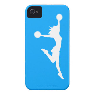 iPhone 4 Case-Mate Cheer 1 Silhouette White/Blue
