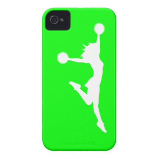 iPhone 4 Case-Mate Cheer 1 Silhouette White/Green
