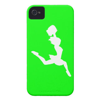 iPhone 4 Case-Mate Cheer Silhouette White/Green