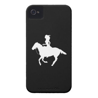 iPhone 4 Case-Mate Cowgirl 3 Silhouette Black iPhone 4 Case