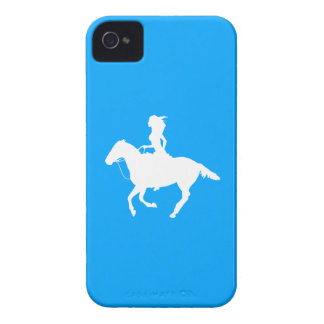 iPhone 4 Case-Mate Cowgirl 3 Silhouette Blue iPhone 4 Cases