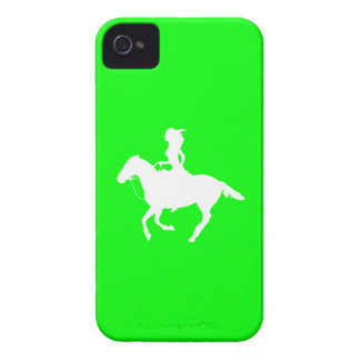 iPhone 4 Case-Mate Cowgirl 3 Silhouette Green