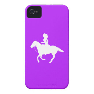 iPhone 4 Case-Mate Cowgirl 3 Silhouette Purple