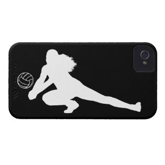 iPhone 4 Case-Mate Dig Silhouette White on Black
