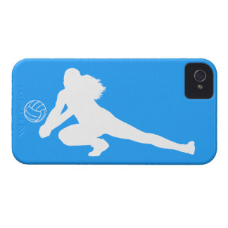 iPhone 4 Case-Mate Dig Silhouette White on Blue