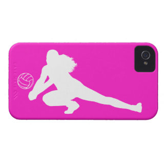 iPhone 4 Case-Mate Dig Silhouette White on Pink