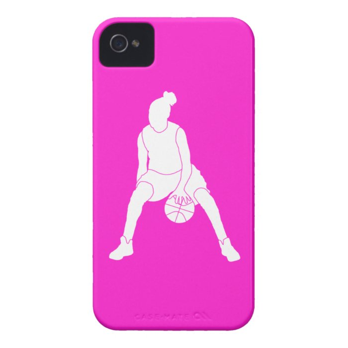iPhone 4 Case-Mate Dribble Silhouette Pink iPhone 4 Case