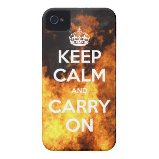 iPhone 4 Case-Mate Keep Calm and Carry On Fire iPhone 4 Cover