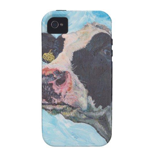 iPhone 4 Case-Mate Tough™ - 0556 Irish Fresian Cow Case-Mate iPhone 4 Case