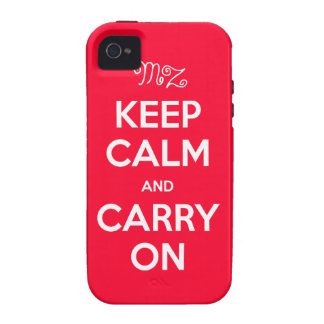 iPhone 4 Case-Mate™ with your Initials - Keep Calm